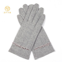 Neues Produkt Grau Farbe Voller Touch Screen Wolle Handschuhe / Handschuhe Für Iphone