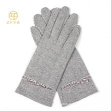 Nuevo producto Gris Color Full Touch Guantes de lana de pantalla / guantes para Iphone