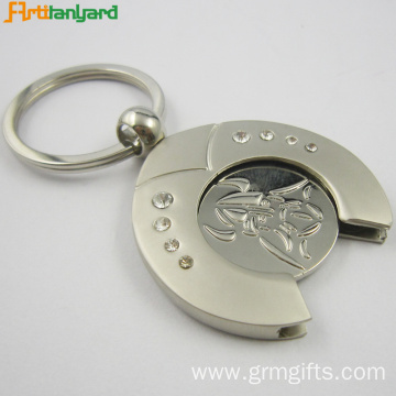 Customized Trolley Coin Keychain Nickel Plating