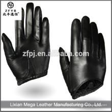 Hot-Selling hochwertigen niedrigen Preis Frauen schwarze Leder Handschuhe