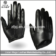Hot-Selling high quality low price Women Black Leather Gloves