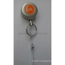 Metal Badge Reel em níquel Pearl chapeamento