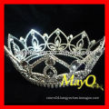 Full Round Crystal Queen pageant crown, wholesale pageant crowns and tiaras, round crowns for sale