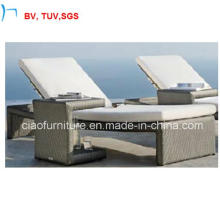 Rattan Patio Furniture Double Sun Lounger with Cushion (CF993L)