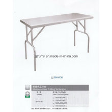Outdoor Rectangle Stainless Steel Folding Table
