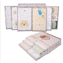 Ropa del algodón del bebé 23PCS fijada para el bebé recién nacido con la caja de regalo de moda