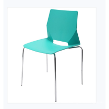 Modern Cheap Price Polypropylene Seat Plastic Chair with Steel Frame
