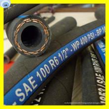 Tuyau en caoutchouc synthétique SAE de tuyau en caoutchouc de tuyau de tuyau de deux fibres