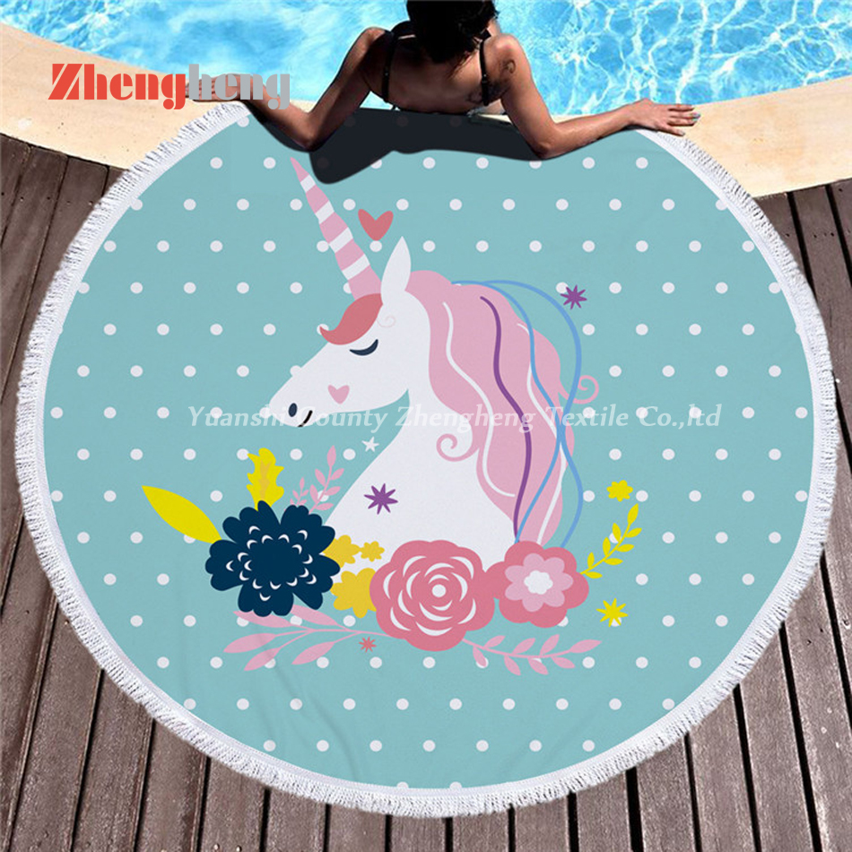 Factory Produced Microfiber Round Beach Towel