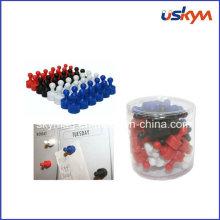 Puces de poussière magnétiques colorées personnalisées, crochets d'aimants