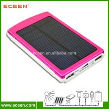 Capacidade real 10000mah banco de energia solar carregador solar portátil para dispositivos digitais