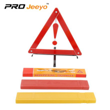 Fault warning sign car tripod with reflective stop signs