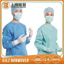 materia prima no tejida médica de la tela de SMS de los materiales consumibles