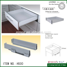 soft closing tandem box hidden drawer slide rail