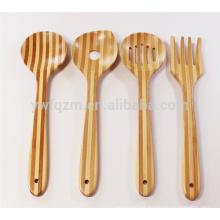 Herramienta de cocina de bambú 4 sets cocina cuchara de bambú