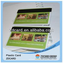Carte en plastique imprimée de carte de membre de cartes de PVC de jet d'encre pour le système de fidélité