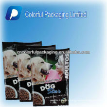 Big side gusset pet food package bags with back sealing