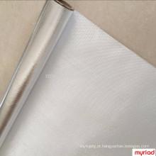 Folha de alumínio de volta pano de fibra de vidro, laminação de fibra de alumínio folha de alumínio, Reflexivo e Silver Roofing Material Aluminum Foil Fac