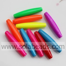 UK 6*28MM Tapered Bicone Acrylic Plastic Beads Drop