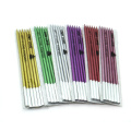 14.5cm Height Metallic Color Paper Wrapped Pencil Candle
