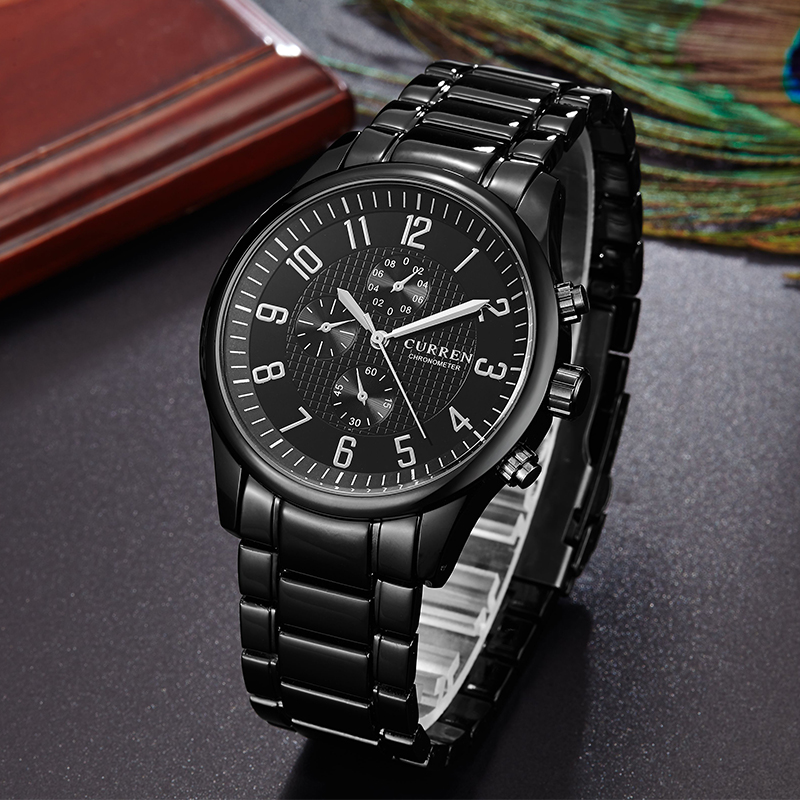custom your logo quartz business watch waterproof watch
