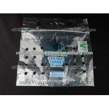 Recyclable plastic packaging bag for vegetable and fruit with vent hole