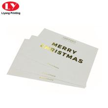 Impresión de tarjetas de regalo de Navidad con estampado en caliente de oro