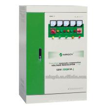 Regulador / estabilizador de voltaje de la CA de la energía de la serie SBW-100k de tres fases de encargo