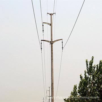 110 Kv Power Transmission Linear Monopole Tower