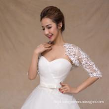 Wholesale lace appliques cheap white bridal wedding lace shawl