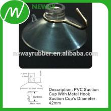 Custom PVC transparente de 42 mm de succión Cup con gancho