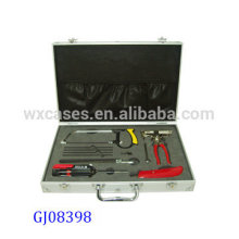 strong&portable aluminum toolbox with custom foam insert inside from China