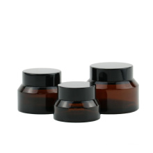 Luxury Empty Transparent Amber Green Glass Cosmetic Jar For  Skincare Cream 30G 50G 100G