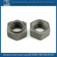 DIN929 Tuercas de soldadura hexagonales de acero al carbono con acabado liso