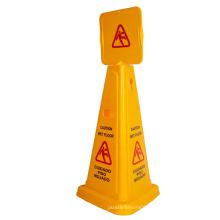 70cm Yellow PP wet floor No parking traffic cone
