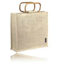 New design handle linen bag wholesale