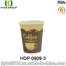 Taza de café desechable de papel de pared de 7.5 oz (HDP-0909-4)
