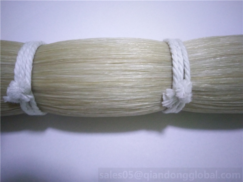 Pure Horse Hair Unbleached White
