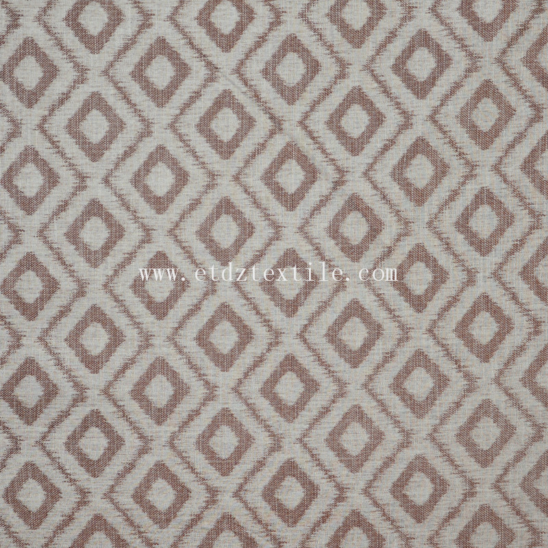 6016 New Chocolate 100% Polyester Linen Like Jacquard Curtain Fabric