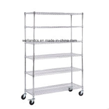 Chrome Commercial 6 Layer Regal Einstellbare Stahl Wire Regal Rack