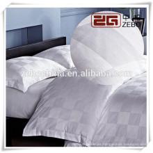 100% algodón de alta calidad Jacquard Grid Hotel Ropa de cama