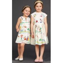 Baby Sleeveless Graffiti Print Dress in Children Frocks Clothes