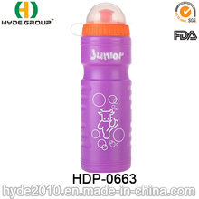 750ml Squeeze Plastic Running Water Bottle, PE Plastic Sport Water Bottle (HDP-0663)