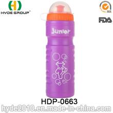 Garrafa de água corrente plástica do aperto 750ml, garrafa de água plástica do esporte do PE (HDP-0663)