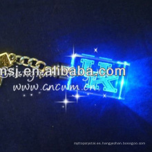 Clear LED Laser Keychain Promotion For Holiday Gift