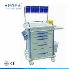 Тележка больницы для пациента терапия, используемая медицинская вагонетка наркотизации