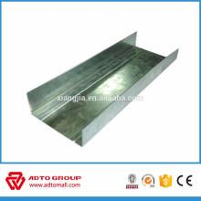 Perfil de metal de yeso de estructura ligera de acero en canales de acero