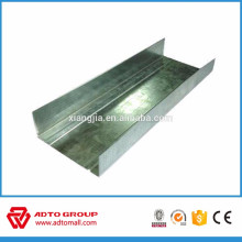 Profil en métal léger de gypse d'encadrement en acier dans des canaux en acier