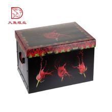 Профессиональный популярный напечатанный таможней малый черный коробка упаковки продукта