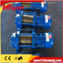 KCD type electric hoist winch with 750/1500kg